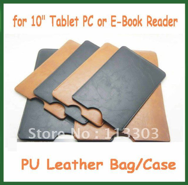10pcs Universal PU Leather Case Pouch Bag Cover 10.1 inch for Android Tablet Cube U30GT Ainol Hero II Pipo