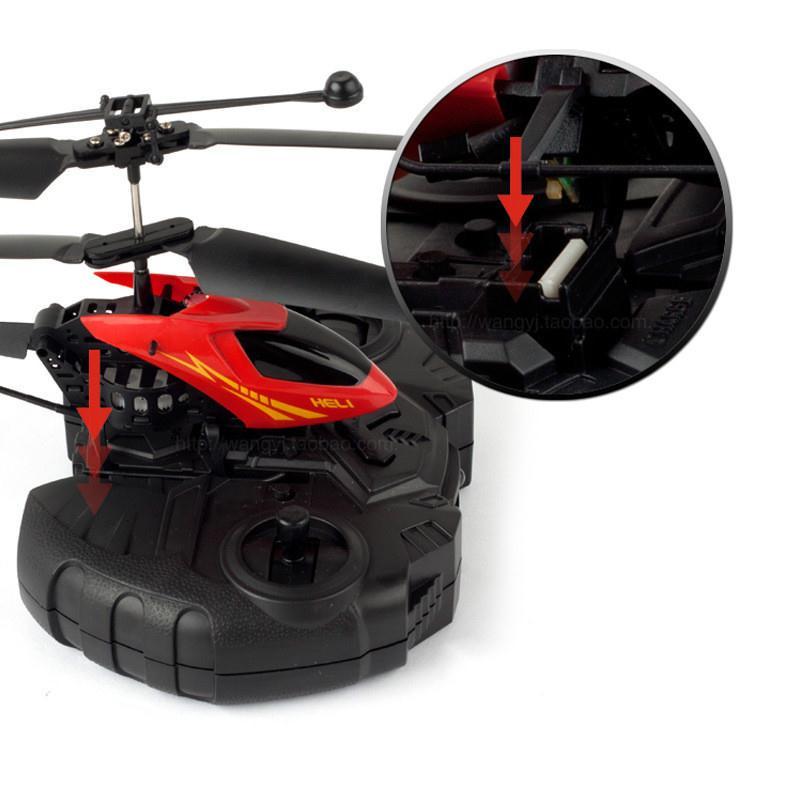ヘリコプター黄赤ランダム RC USD にくいラジオリモートコントロール航空機 7