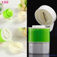 Novelty Pill Crusher Grinder Splitter Divider Cutter Storage Case Container Box #Y207E# Hot Sale