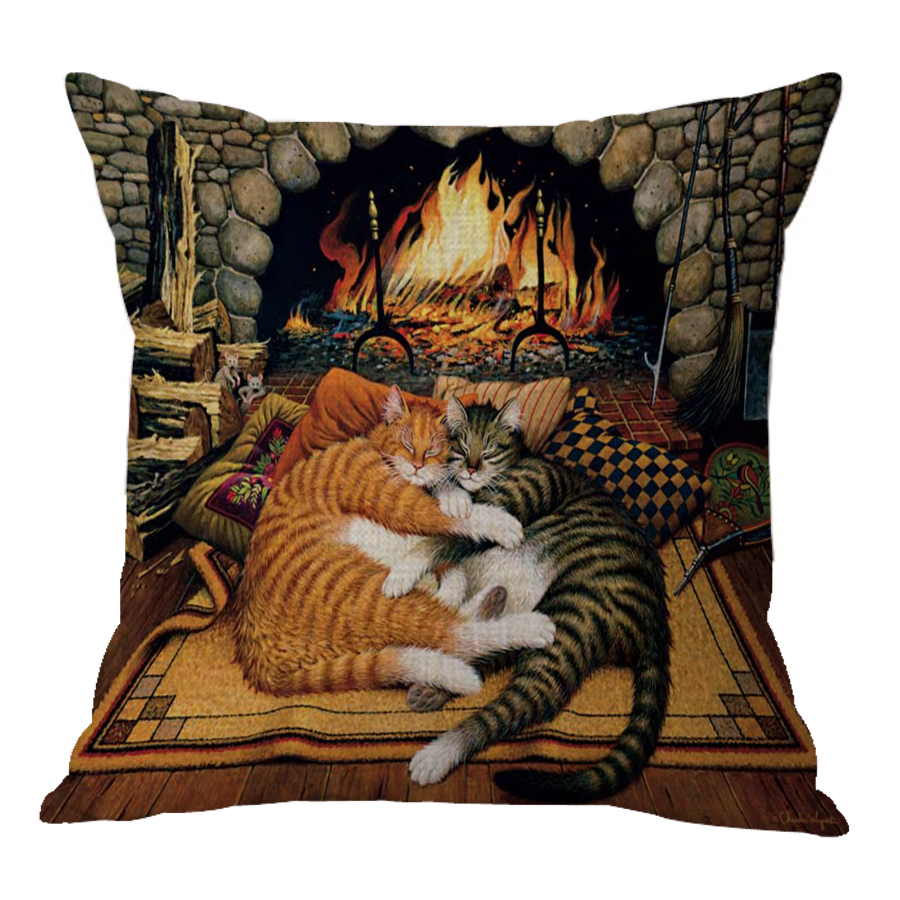 2017 Latest Design Cute Cartoon Anime Cat Printed Cushion Car Seat Sofa Pillow For Children Holiday Gifts