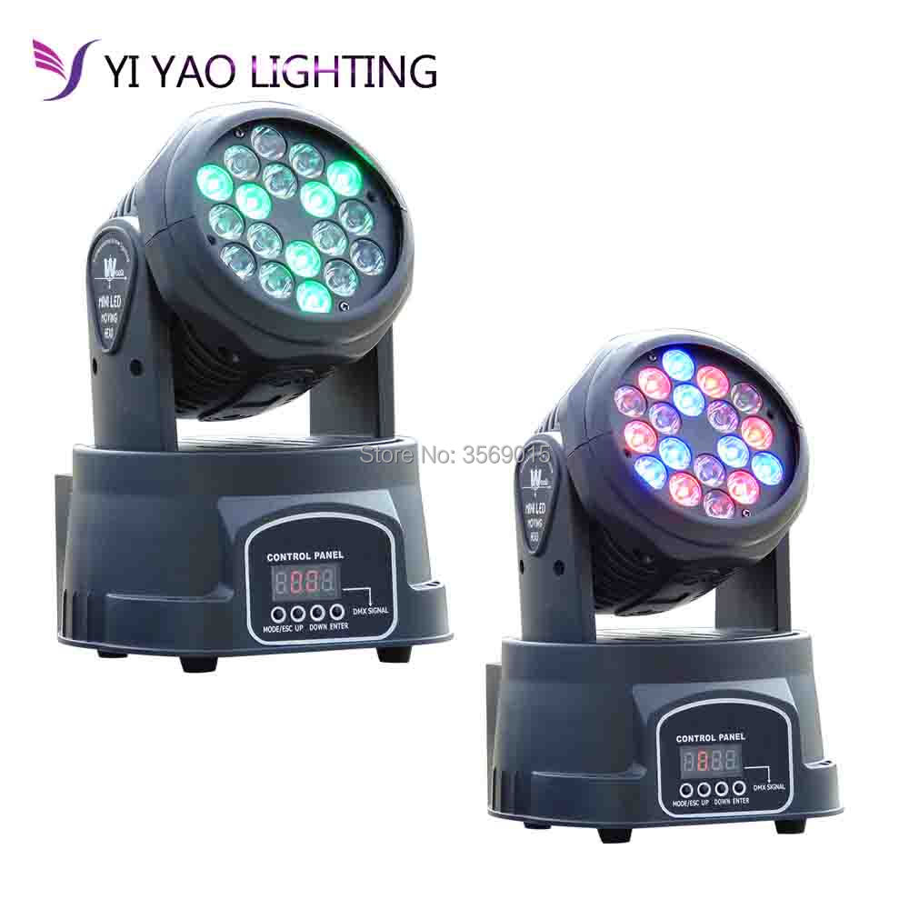2pcs/lot LED Moving Head Wash Light 18x3W RGB Color DMX Stage Moving Heads2pcs/lot LED Moving Head Wash Light 18x3W RGB Color DMX Stage Moving Heads