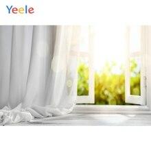 Yeele casa branca cortina janela sol interior fotografia fundos personalizados backdrops fotográficos para estúdio de fotos