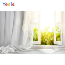 Yeele לבן בית וילון חלון שמש פנים צילום רקע מותאם אישית צילום תפאורות צילום סטודיו