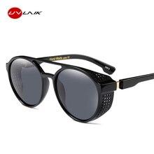 b056d589f376e UVLAIK 2018 nuevo Steampunk gafas de sol mujer marca diseñador  vigas-gemelas gafas de sol hombre gafas redondo Retro Punk de vap.
