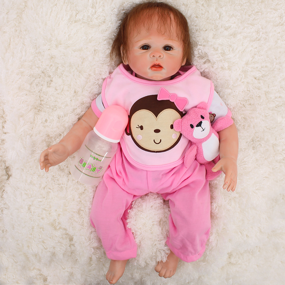 Real baby doll reborn toys 2048cm soft silicone reborn baby dolls toys for child xmas gift bebes reborn bonecas Real baby doll reborn toys 2048cm soft silicone reborn baby dolls toys for child xmas gift bebes reborn bonecas