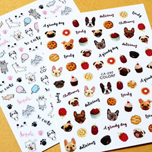 Newest CA-277 240 cartoon dogs 3d nail sticker art back adhesive decal decoration