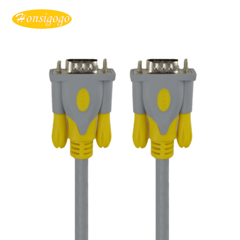 Honsigogo VGA to VGA Cable 3+6 Male to Male Line Converter 1080P for Laptop Monitor HDTV Projector PC 1.5/3/5/10/15/20m