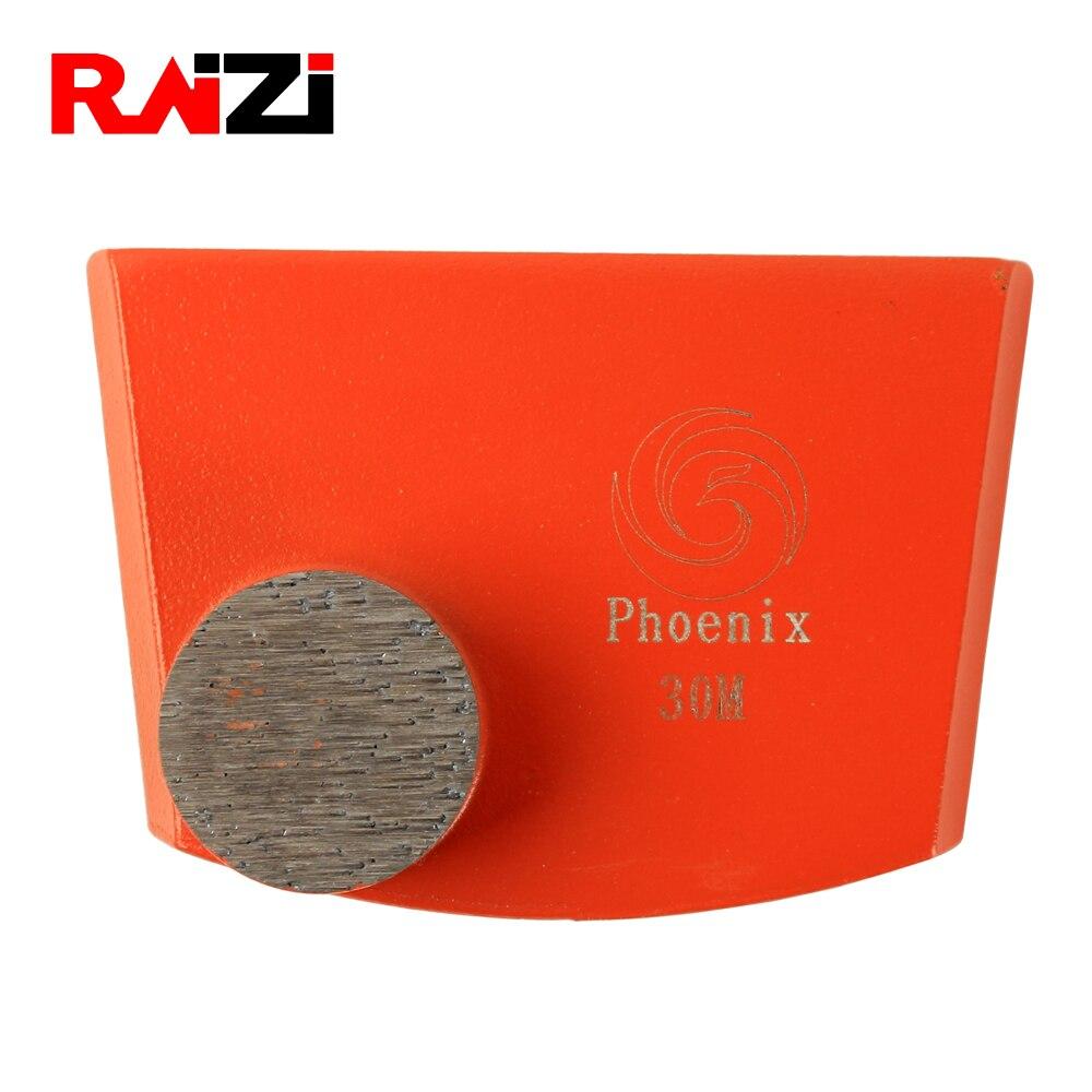 9Pcs Concrete Floor Grinder Grinding Pad Concrete Grinder Polisher Metal Grit 30
