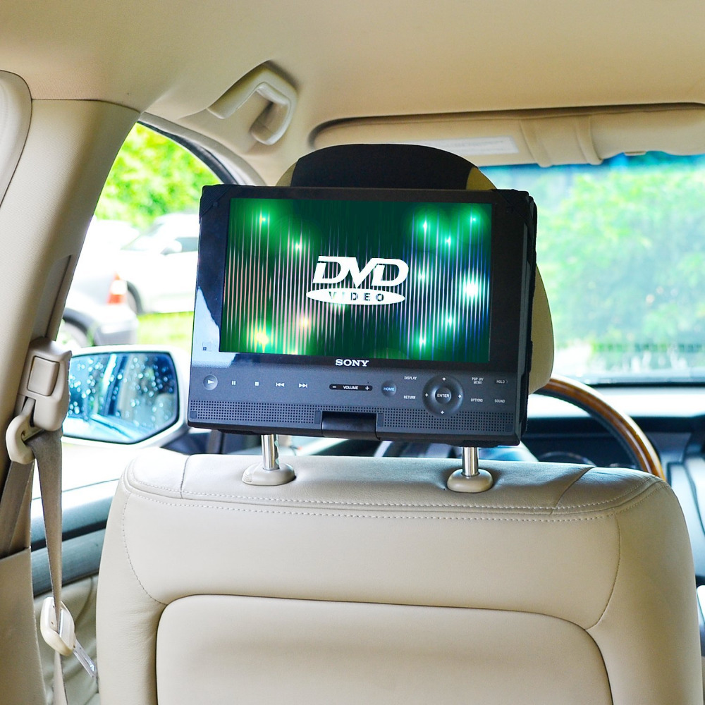 TFY Car Headrest Mount Holder For Swivel & Flip Portable DVD Player-10 Inch (Not Including The DVD Player)