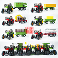 Candice guo 1:43 farm tractor transporter series truck timber vegetable fliegl alloy model car toy birthday christmas gift 1pc