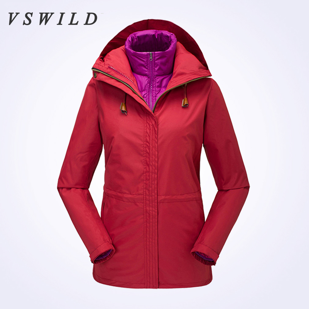 2018 Women Camping Coats Waterproof Windbreaker Jackets Breathable Autumn And Winter Outdoor Mountaineering Two-piece Suit