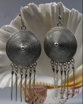 free shipping wholesale  Tribal exotic ethnic chinese handmade miao silver earring