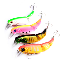 8pcs good fishing lure quality professional bait 11cm 14g swim minnow jointed Isca Artificial Lures Fishing Tackle