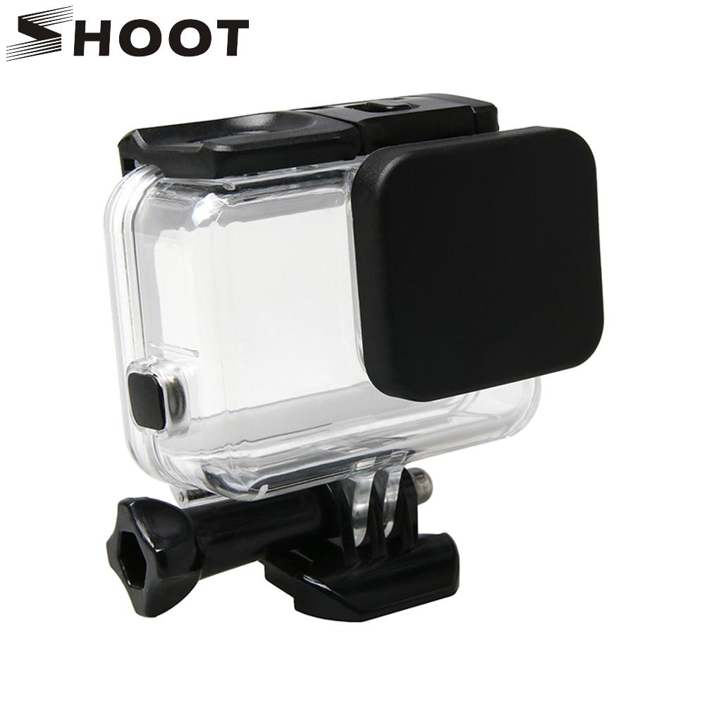 SHOOT Lens Caps Protective Case Lens Cover Caps For GoPro Hero 7 6 5 Black Waterproof Case Housing Lens Cover For Go Pro Hero 7