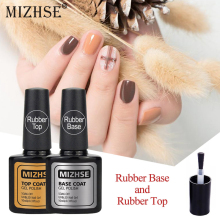 MIZHSE 2 шт резиновая основа верхнее покрытие для ногтей Дизайн ногтя маникюрные гель лак для ногтей праймер для ногтей под Гель-лак скрепленные Топы