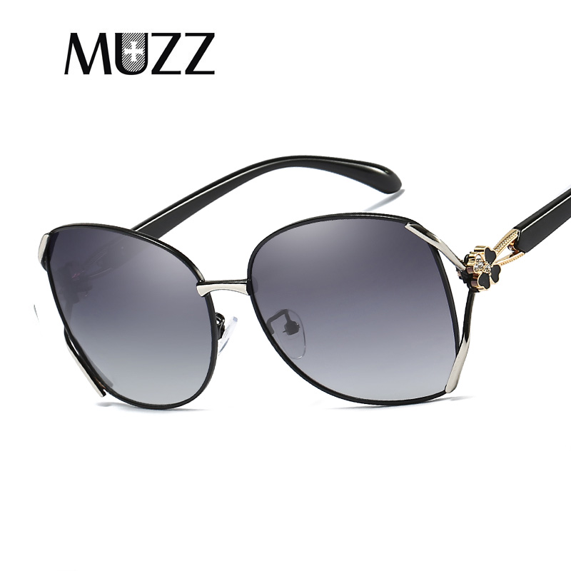 MUZZ Новый высокое качество поляризованных солнцезащитных очков Для женщин солнцезащитные очки UV400 солнцезащитных очков металлические храм...