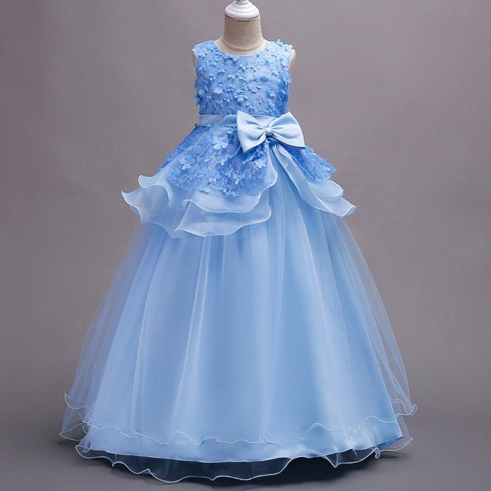 Flower Girls Princess Dress 2018 Summer Girls Party Dress For Wedding Kids Cute Dresses For Girls Children Formal Costumes