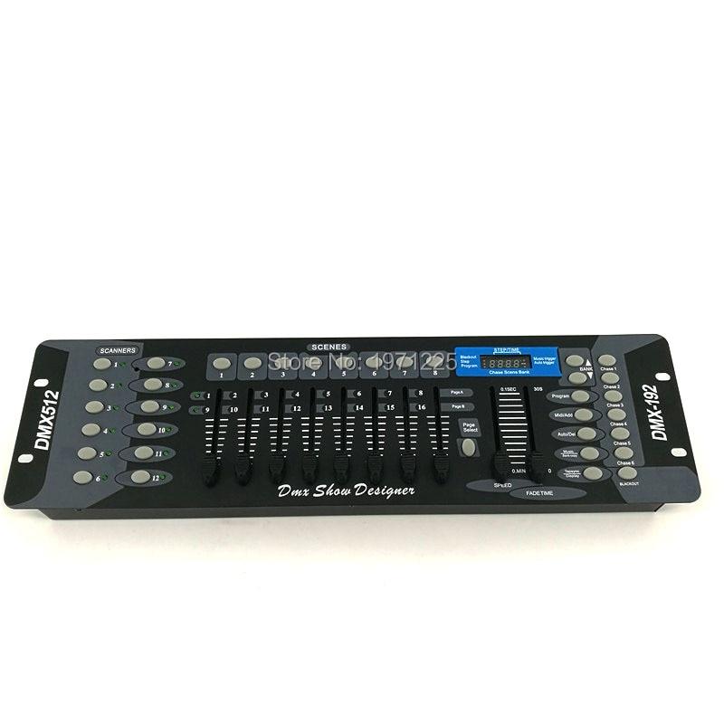 ФОТО (2pcs) Led Controller 192 DMX Controller DMX Console Operator for moving head dj controller stage lighting DMX192 par lights