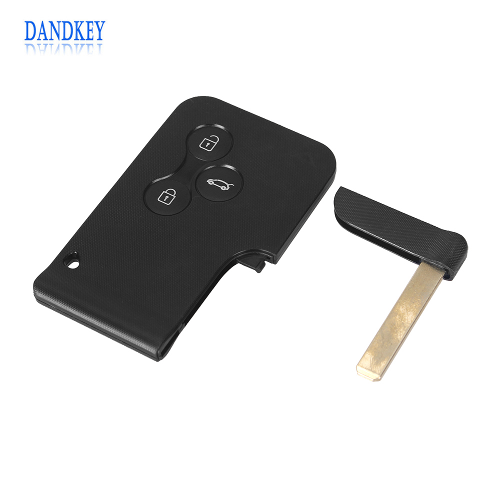 Dandkey Key Shell 2/3 Buttons Smart Card For Renault Clio Logan Megan Scenic For Car Key Case With Small Blade/No Blade 7700431773 7701472508 trunk lock with key switch for renault logan clio sedan for for renault clio thalia 1998 2010