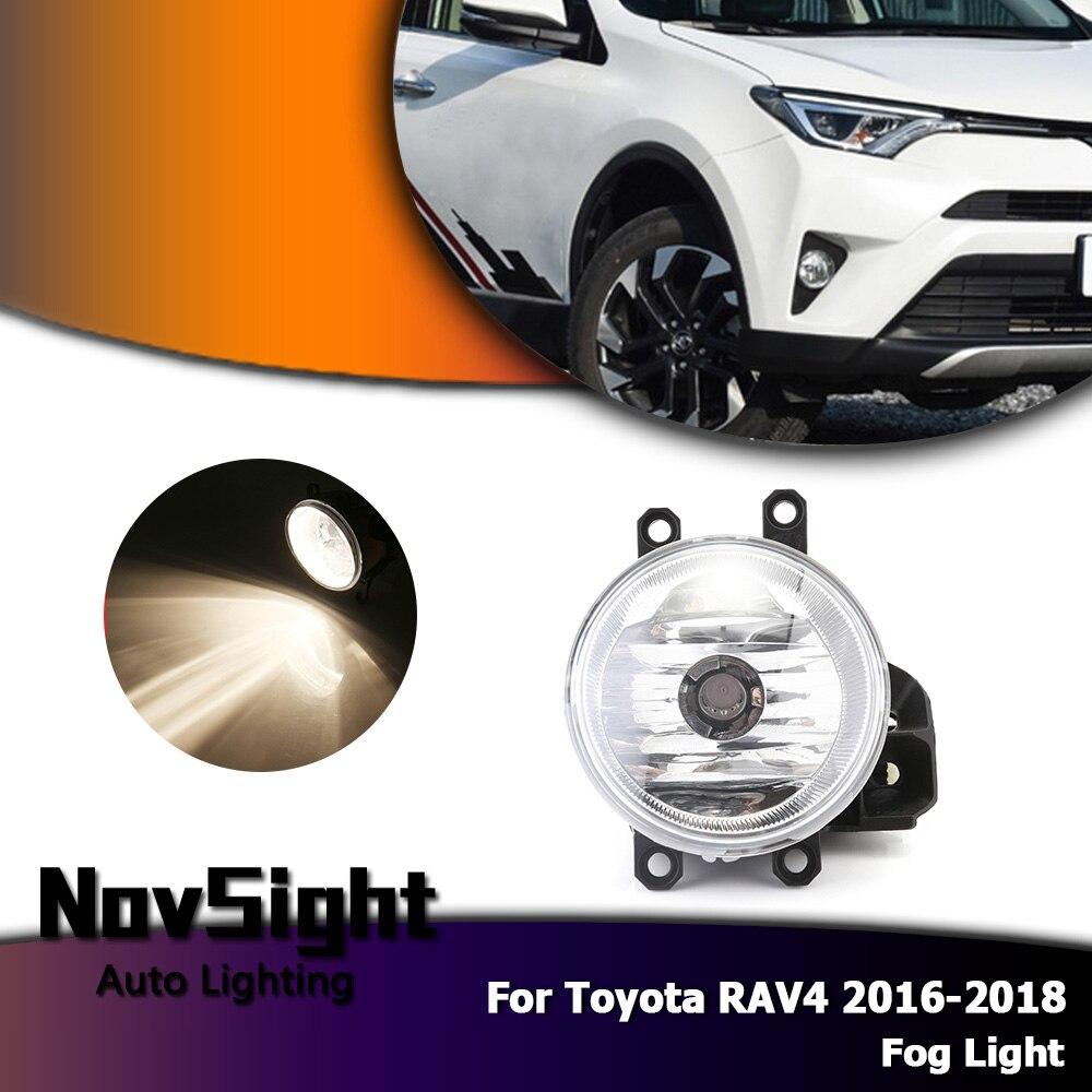 NOVSIGHT Auto voiture conduite antibrouillard lampe assemblage ampoules halogènes pour Toyota RAV4 2016-2018 D35