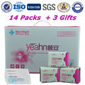 Yeahn Europe Standard Feminine Hygiene Products 100% Cotton Cover Anion Sanitary Napkin Women Feminine Pad Menstrual