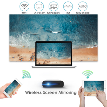 Artlii portable projector 3D Beamer screen mirroring DLP Wi-Fi mini projector with automatic keystone correction for traveling