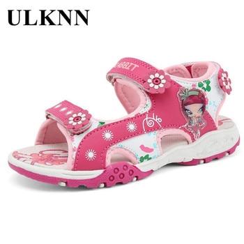 7c227f426 ULKNN verano playa zapatos para niñas sandalias niños zapatos moda flores  dibujos animados Appliques sandalia infantil niños princesa zapatos