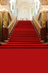 Image 3 - Allenjoy wedding background photography classic palace red carpet vintage stair professional backdrops photobooth photo studio