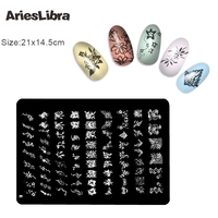 KADS Nail Art Stamp Metal Image Plates Flowers Nail Stamping Plates Stainless Steel Template Polish Manicure