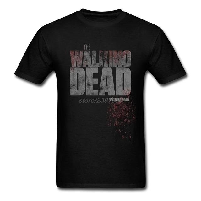 Diseño Hombre de The Walking Dead Logo Tees Camisa de Manga Corta Nueva Marca Juventud Corto Manga de La Camiseta