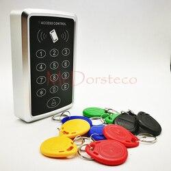 Samodzielny kontroler dostępu z 10 sztuk EM breloki do kluczy RFID klawiatura kontroli dostępu wyświetlacz cyfrowy czytnik kart dla system blokady drzwi w Zestawy do kontroli dostępu od Bezpieczeństwo i ochrona na