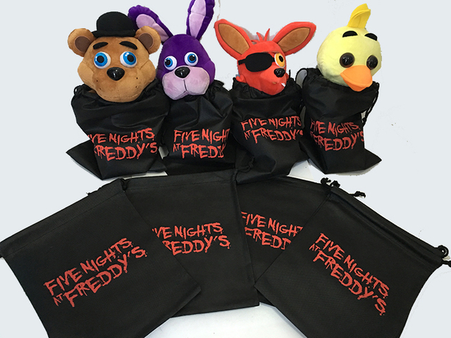 30Pcs Five Nights At Freddys Party GIFT CANDY GOODY BAGS NYLON Freddy FNAF BAG Figure Non Woven Bag