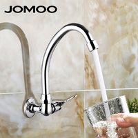 JOMOO Brand Kitchen Faucet Cold Only Simple Tap Kitchen Tap Chrome Finish Rotatable Brass Material Wall