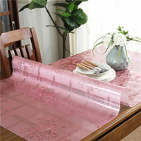 Waterproof pvc colorful tablecloth oil proof Anti hot Golden table mat rectangle plastic dining table cover coffee tablecloth