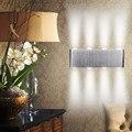 Moderno 8 W AC 85-260 V del Poder Más Elevado LLEVÓ la Luz de la Pared Abajo Lámpara de Pared Iluminación Del Punto Caliente blanco/Blanco