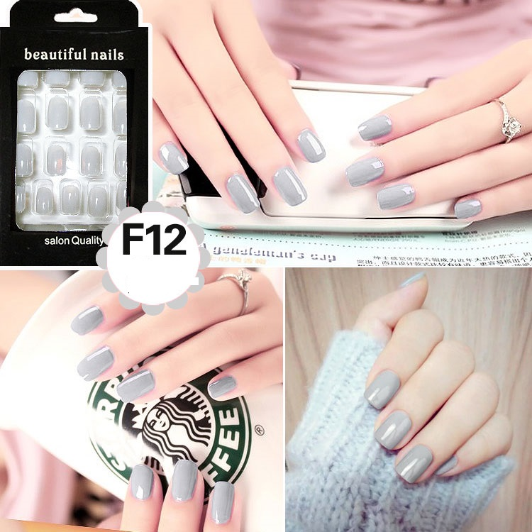 Fashion Long Full False Nails kinds of color Fake Nails For Party ...