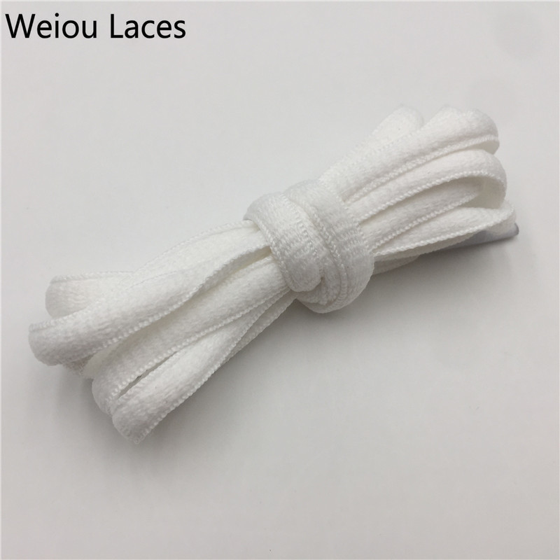 Weiou Polyester Oval Shoelaces 6mm Athletic Sport Sneaker Boots Shoe Laces Strings Solid Colors Basketball Ropelaces Best Match цены