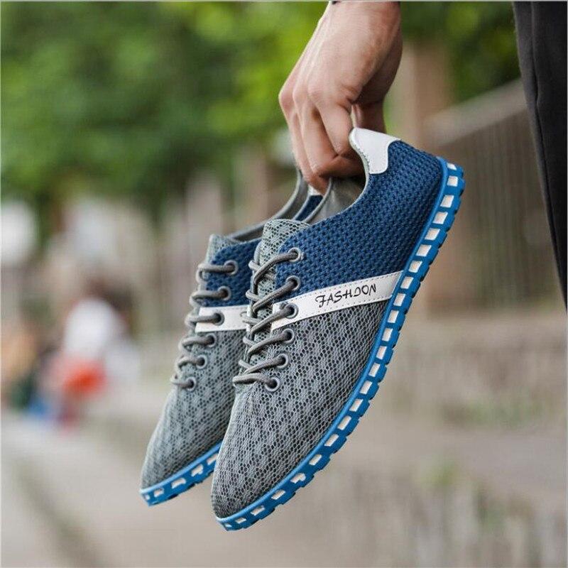 New Fashion Canvas Men Shoes Brand Mens Flats Breathable Lace-up Business Shoes High Quality Plus Big Size 39-46