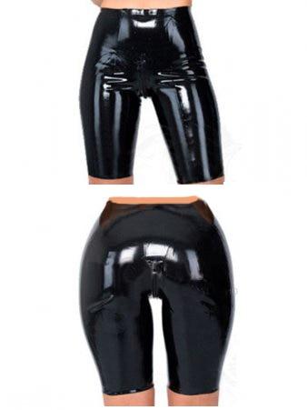Nouveau caleçon en latex noir longueur genoux sur mesure