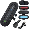 Bluetooth Car Kit Wireless HandsFree Car Bluetooth Dual USB Charger Speaker BuiltIn Slim FM Transmitter Visor Clip Bluetooth Aux