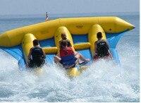 Летающая рыба лодка для 6 человек горка сани Банановая лодка игра надувная вода