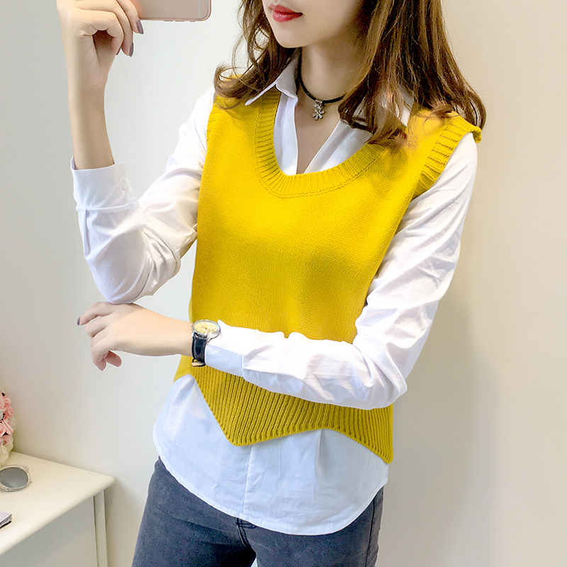 Women's Sweater Vest Pullover 2017 New Autumn and Winter Bat Cuff ...