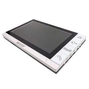 """Image 2 - Бесплатная доставка Новый 9 """"цветной экран видео домофон комплект + 1 белый монитор + открытый RFID дверной Звонок камера + магнитный замок"""