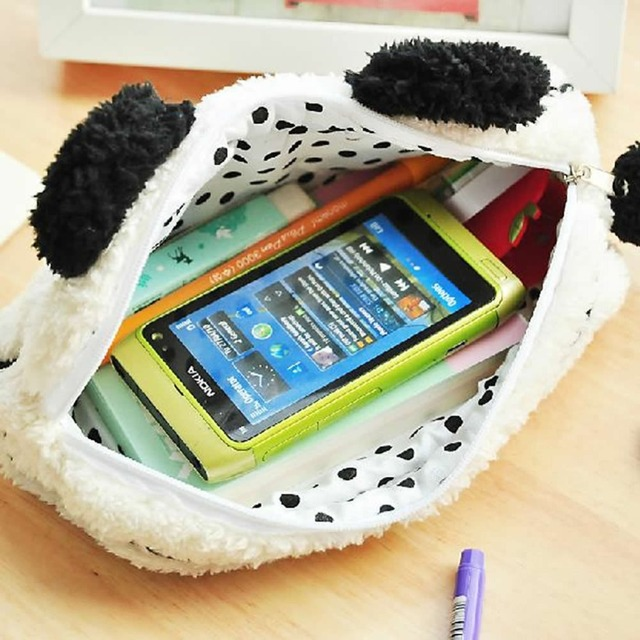 """Z101 """" lindo suave felpa Panda lápices bolígrafos caso del maquillaje cosmético del bolso de la bolsa envío gratis"""