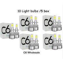 DHL Free LED Car Headlights 72W 8000LM COB Auto Headlamp Bulbs H1 H3 H4 H7 H11 880 9004 9005 9006 9007 Car Styling Lights