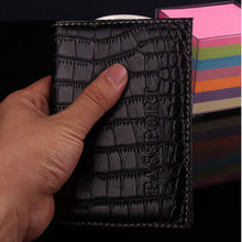 New PU Leather Passport Cover Protector Fashion Alligator Embossing Travel Passport Case font b Men b