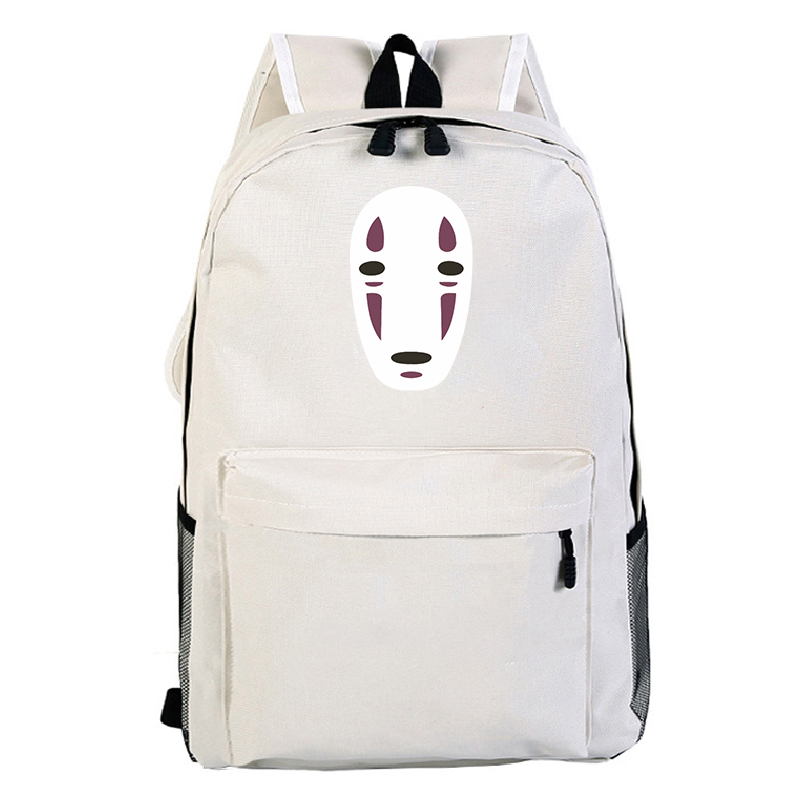<font><b>Spirited</b></font> <font><b>Away</b></font> Travel Shoulder Bag Designer White <font><b>Backpack</b></font> for Teenage Girls School Bags No Face Man Knapsack Boys Satchel Bags image