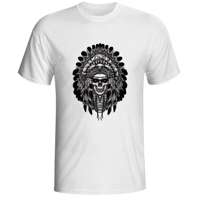 9ff804f0ddda Chief Of Skull Tribe T Shirt Gothic Style Mystery Fashion Novelty T-shirt  Creative Punk Design Unisex Tee