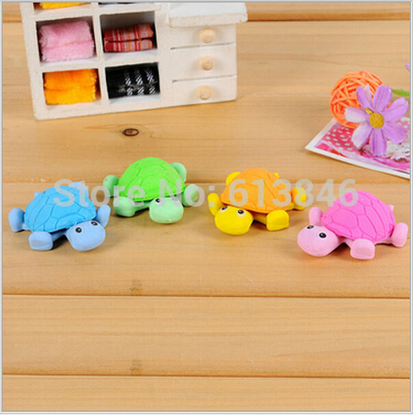 New Cute Creative Turtle Style Eraser/Funny Eraser/Office&Study Rubber Erase/Kids Gifts/ Office & School Supplies