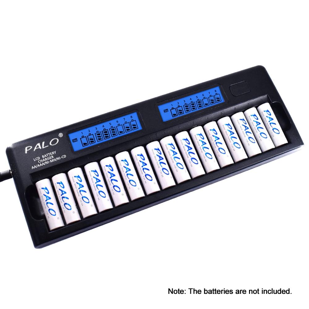 パロPL NC31インテリジェントバッテリー充電器二つスピーディスマート充電器w/16バッテリースロット用の1.2ボルトニッケル水素ニッカドcd aaa aa電池  グループ上の 家電製品 からの 充電器 の中 1